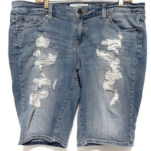 Torrid Boyfriend Distressed Shorts